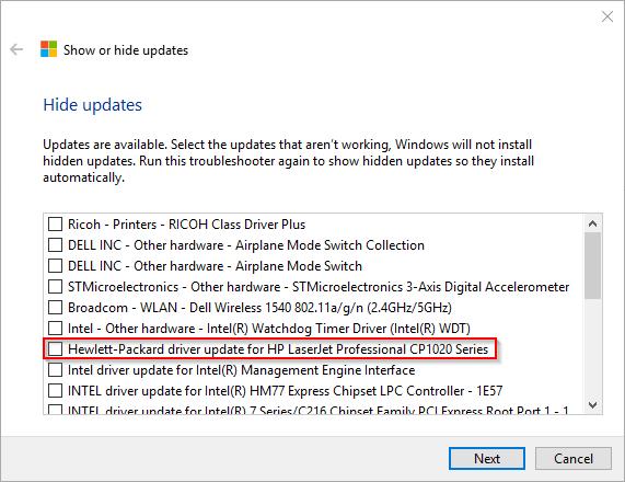 005 - update status driver problem